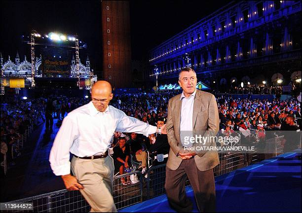 World Premiere of the animation movie 'Shark Tale' in St Mark's Square during the 61st Venice Film festival In Venice Italy On September 10...