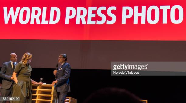 World Press Photo Patron His Royal Highness Prince Constantijn of the Netherlands and WPP Managing Director Lars Boering are interviewed onstage at...