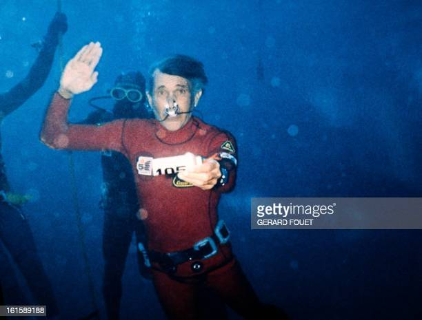 World record french freediver Jacques Mayol is pictured on December 1983 in Marseille AFP PHOTO GERARD FOUET