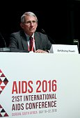 World renowned HIV researcher and winner of the Presidents Award from the International AIDS Society Anthony Fauci attends the conference on 'Why do...