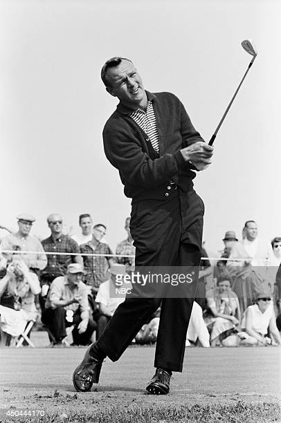 Professional golfer Arnold Palmer