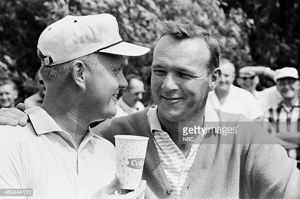 Professional golfers Jack Nicklaus and Arnold Palmer