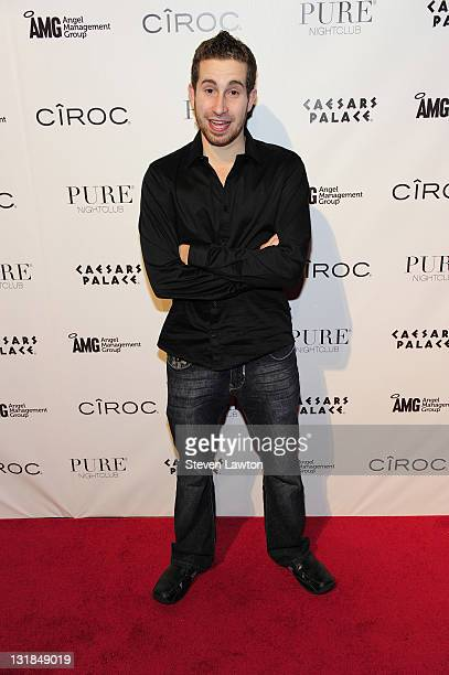 World Series of Poker winner Jonathan Duhamel arrives for Michael Mizrachi's victory party at the Pure Nightclub at Caesars Palace on November 9 2010...