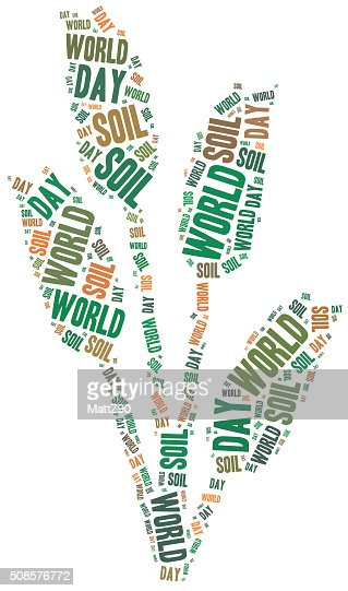 World soil day. Holiday celebrated on 5th December. : Stock Photo
