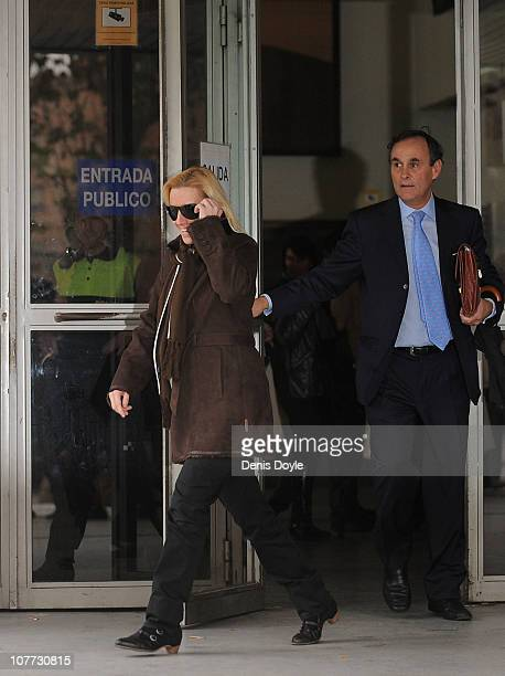 World steeplechase champion Marta Dominguez leaves a Madrid court after appearing for a doping investigation on December 22 2010 in Madrid Spain...