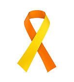 World Suicide Prevention Day Ribbon isolated on white background. 3D render