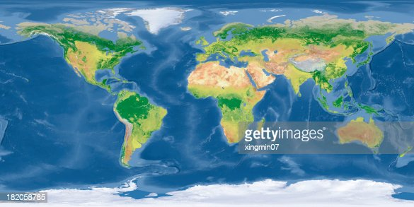 world Topographic Map