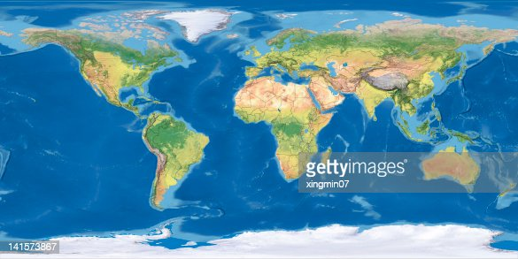 world Topographic Map,National Border