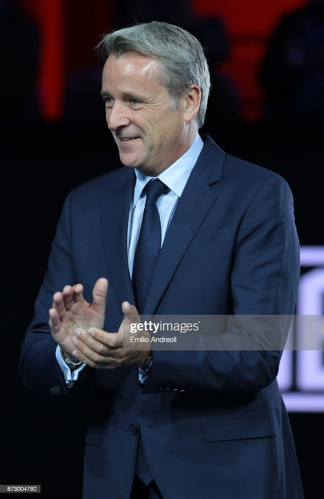 World Tour Executive Chairman and President Chris Kermode is pictured at the end of the mens final on day 5 of the Next Gen ATP Finals on November 11, 2017 in Milan, Italy.