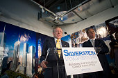 World Trade Center site developer Larry Silverstein speaks about the design elements of the Freedom Tower in his office at 7 World Trade Center...