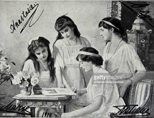 World War 1 The four Grand Duchesses in 1914