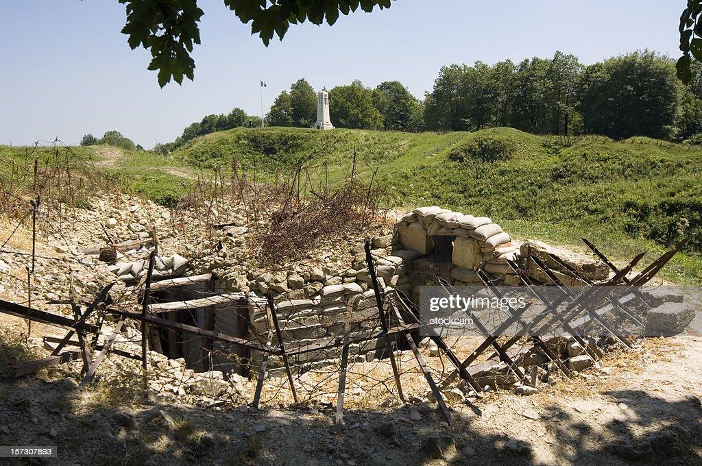 Guerre mondiale un trench près de Verdun : Photo