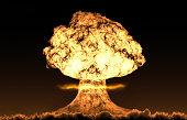 World war 3 nuclear background horizon