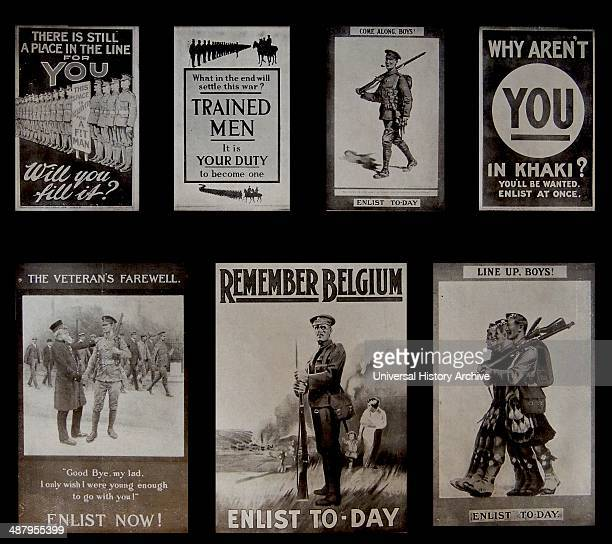 World War I 1915 A set of British propaganda posters