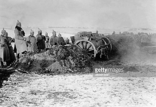 German artillery during the combat Probably in winter 1915 or 1916 Photo Kuehlewindt