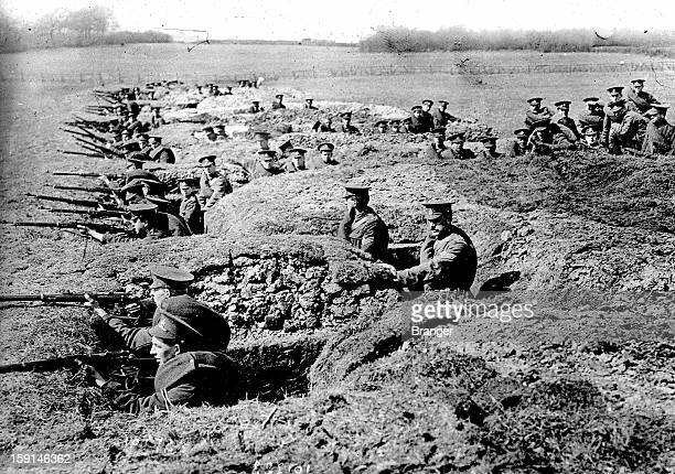 World War I English trench in front of NeuveChapelle in 1915