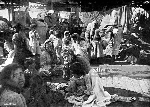 1915 World War I The massacre of the Armenian populations in Turkey an encampment of Armenian refugees on the deck of a French cruiser that rescued...