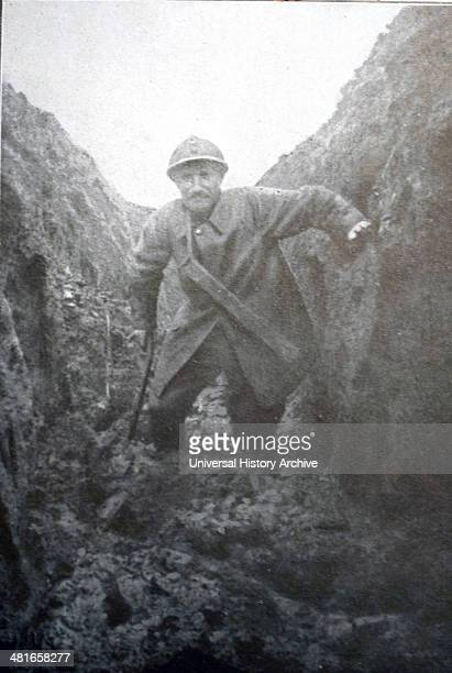 World War I The winter season French soldier in a trench an artois during the Verdun campaign 1916