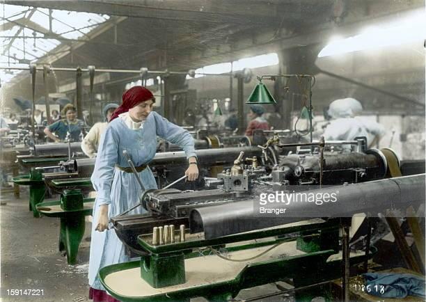 World War I Women at work in an ammunition factory France