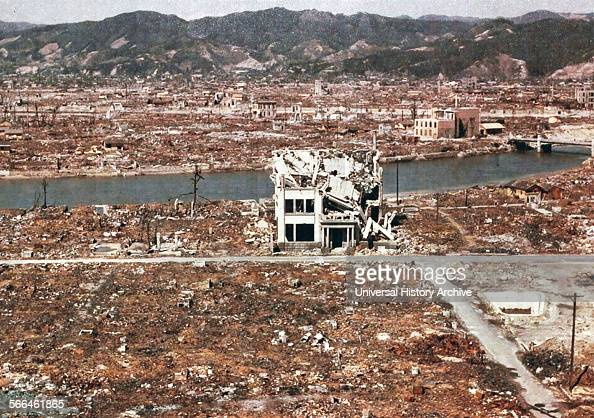 World War II after the explosion of the atom bomb in August 1945 Hiroshima Japan