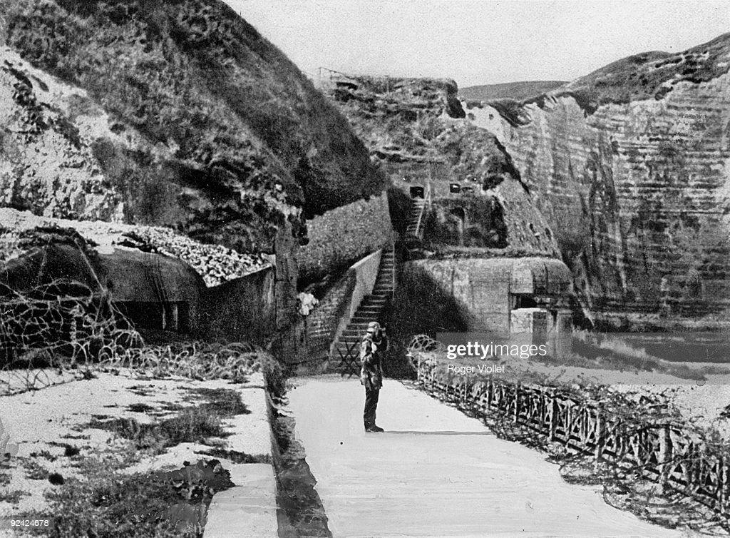 World War II. Atlantic Wall. German fortifications. Etretat (Seine-Maritime).