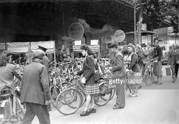 World War II Bicycle shed Paris July 1944