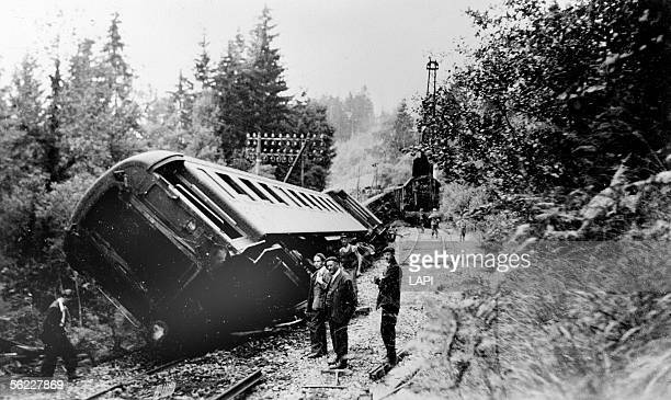 World War II Derailment caused by the French Resistance
