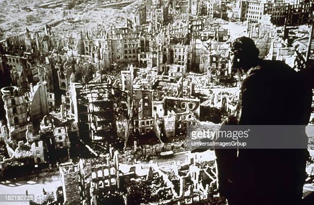 World War II Dresden destroyed by bombing