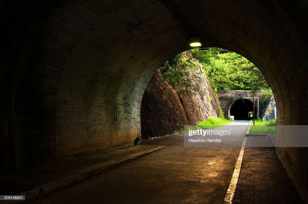 A World War II era tunnel in Ogasawara Village.