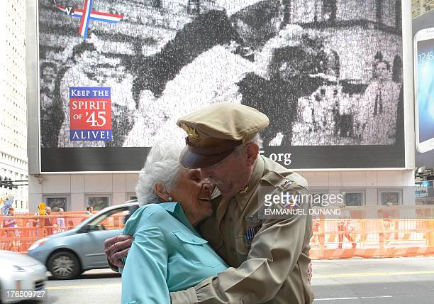 World War II fighter pilot Jerry Yellin and WWII veteran nurse Gloria Bullard Bullard who appears in Victor Jorgensen's photo of the kiss on Times...