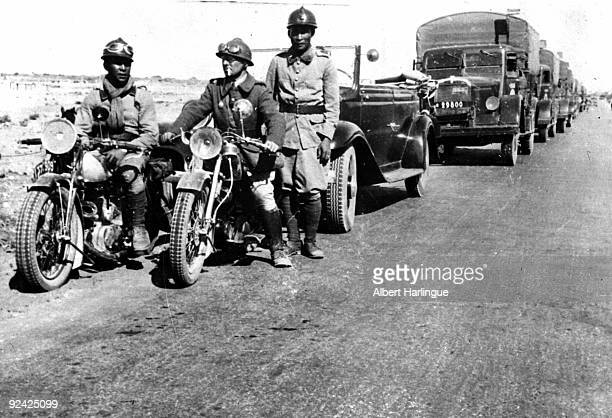 World War II French motorized troops in Syria near the Palestinian border June 1941