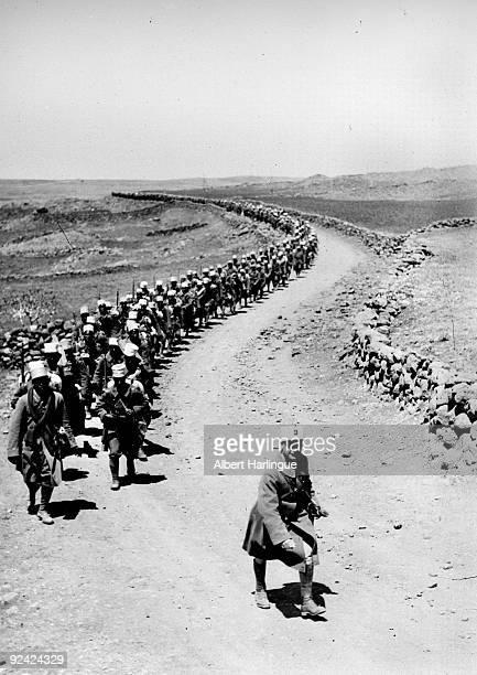 World War II Front of Syria Djebel Druze Senegalese infantrymen