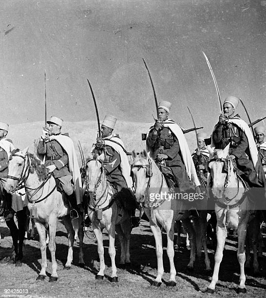 World War II Front of Syria Regiment of Sipahis defending Palmyra June 1941