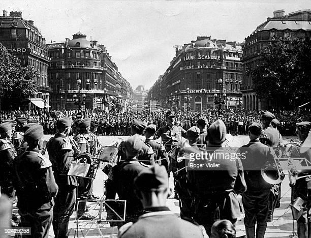 World War II German military orchestra place de l'Opera Paris June 1941