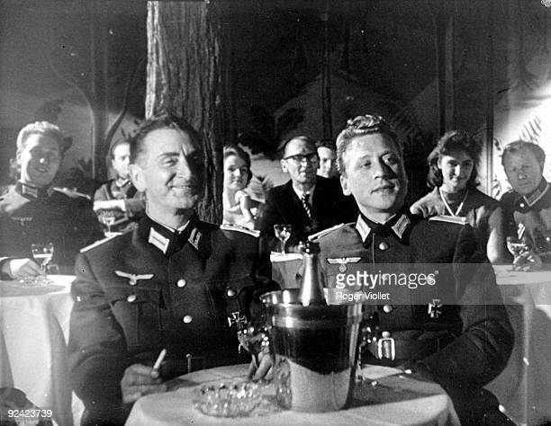 World War II German officers in a cabaret in Paris