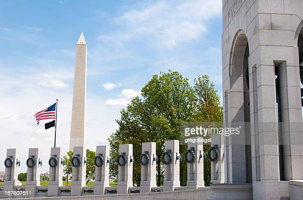World War II Memorial und des Washington monument