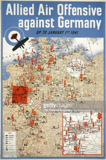 World War II poster Allied Air Offensive Against Germany