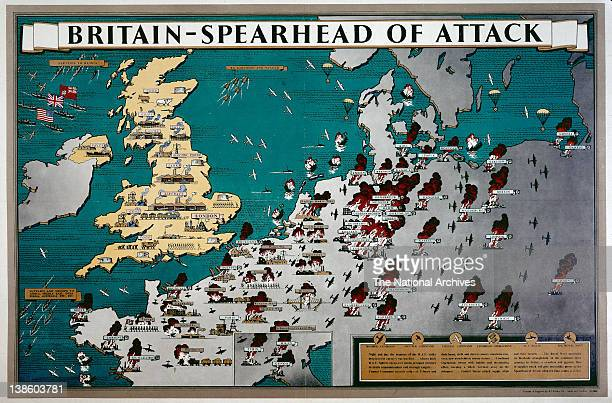 World War II poster Britain Spearhead Of Attack