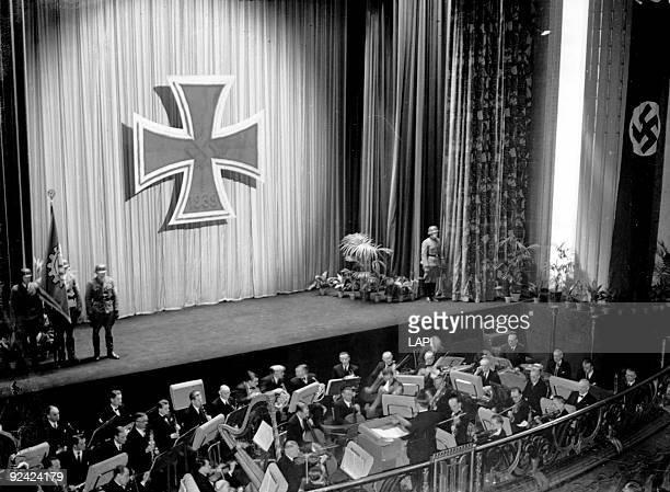 World War II 'Soldaten Kino' movie theater for the German army Paris March 1943