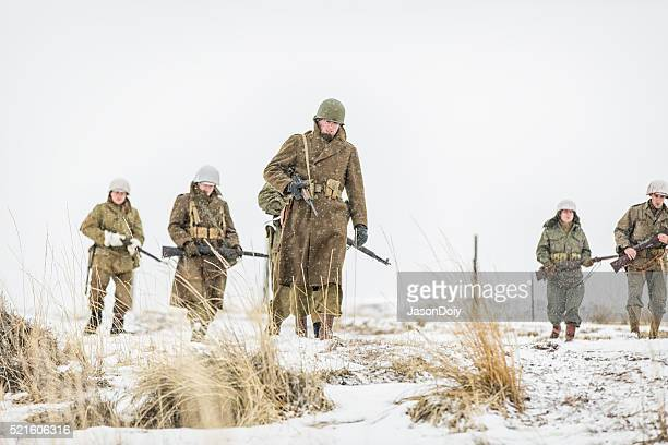 World War II Soldiers in the Snow