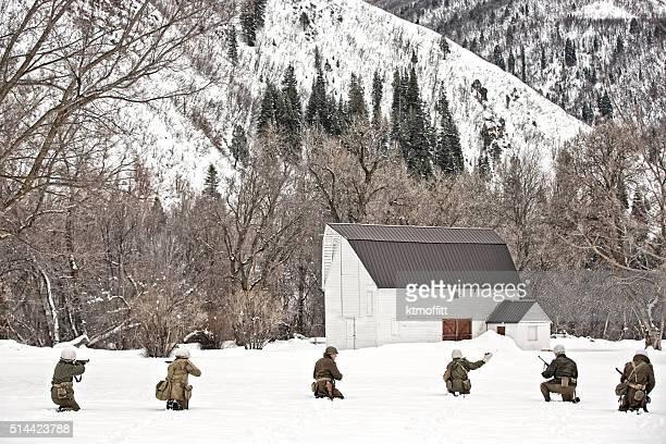 La II Guerra Mondiale in prossimità di una fattoria Patrol