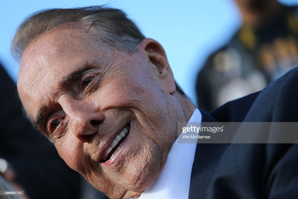 World War II veteran and former Sen. <a gi-track='captionPersonalityLinkClicked' href=/galleries/search?phrase=Bob+Dole&family=editorial&specificpeople=118596 ng-click='$event.stopPropagation()'>Bob Dole</a> (R-KS) attends a Veterans Day ceremony at the National World War II Memorial November 11, 2015 in Washington, DC. Originally established as Armistice Day in 1919, the holiday was renamed Veterans Day in 1954 by President Dwight Eisenhower and honors those who have served in the U.S. military.