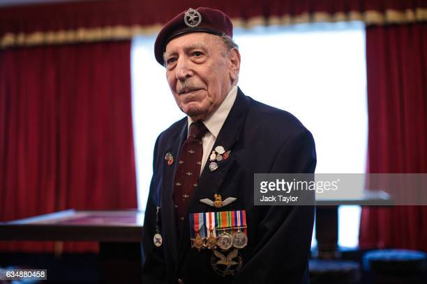 World War II veteran Frank Ashleigh is pictured ahead of a photo call for the launch of the Veterans Black Cab ride at Wellington Barracks on...