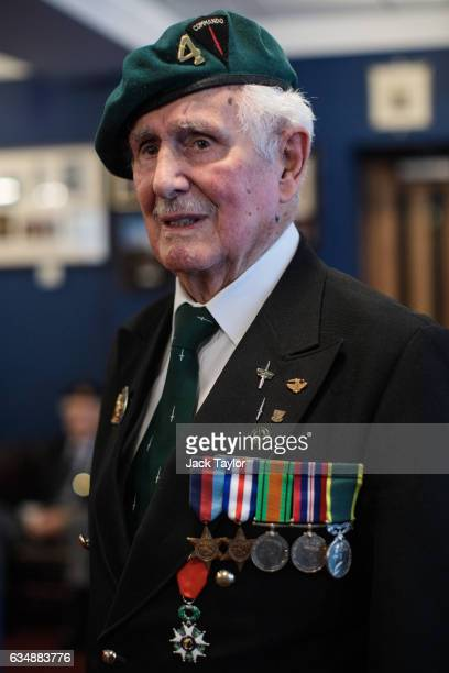 World War II veteran Roy Maxwell is pictured ahead of a photo call for the launch of the Veterans Black Cab ride at Wellington Barracks on February...