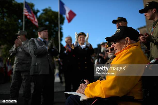 World War II veterans who took part in the invasion of Normandy William Spriggs and Francis Markuins both from the 83rd Infantry Division are...