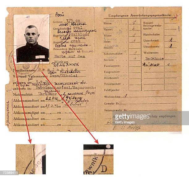 World War IIera military service pass from the US Department of Justice shows John Demjanjuk whose US citizenship was revoked for the second time...