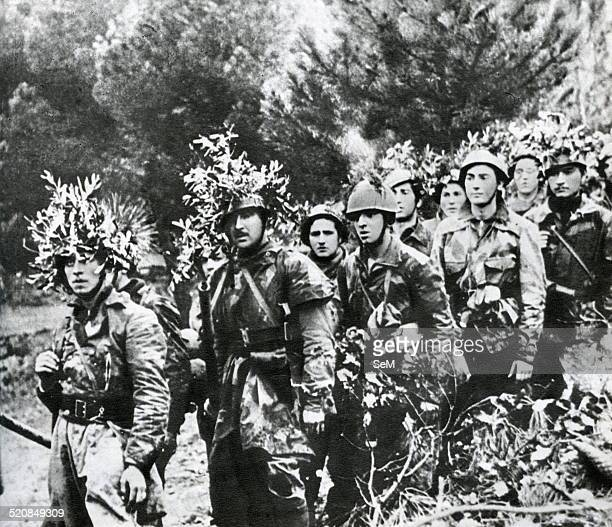 World War IIWar in Italy 1943 1945Soldiers of RSI in camouflage uniform just before a raid against the partisans in Northern Italy The Italian Social...