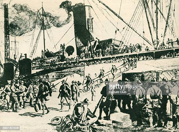 World War One American soldiers disembarking at Brest France