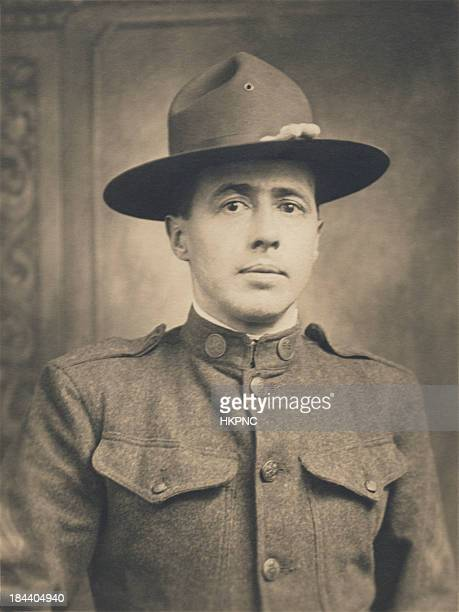 WWI, World War One, Portrait of US Enlisted Army Soldier