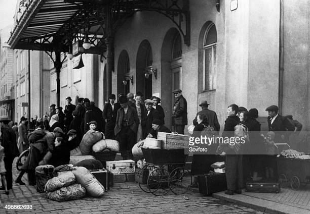 World War Two Events leading up to the German occupation of Bohemia and Moravia on March 15 1939 Evacuation of Czech people from the borderland...
